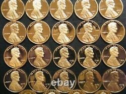 19592020 S Lincoln Penny Choice Gem Proof Run 65 Coin Complete Set US Mint Lot
