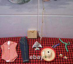 1959 VINTAGE BARBIEPICNIC SETCOMPLETE+NEAR MINT 9 Pc SETPerfect HATA+FISH