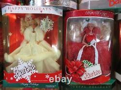 1988-1998 Complete Set 11 Barbie Dolls Celebration Happy Holidays NEW In Box S5