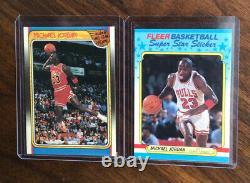 1988 Fleer Basketball Complete Set 1-132 Plus Stickers Jordan Nm-mt To Gem Mint