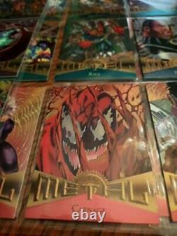 1995 Fleer Marvel Metal Complete Base Set #1-138 MINT ready condition