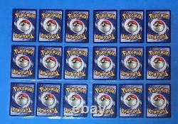1999 Pokemon BASE Set COMPLETE Non Holo Cards #17-102 Lot Unlimited Edition NM