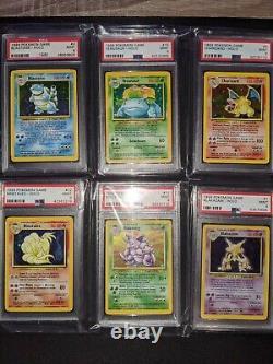 1999 Pokemon Base Set Unlimited COMPLETE PSA 9 HOLO SET