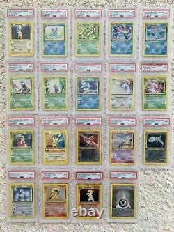 1st Edition Neo Genesis Complete PSA 9 Set Recent Serials Lugia T17 Mint