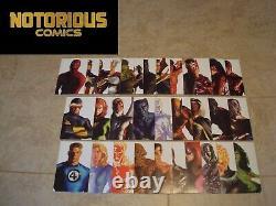 Alex Ross Timeless Variant Set Marvel Portrait 34 Covers Complete Comic Lot