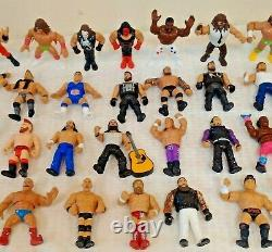 COMPLETE SET 44 Figures WWE Mattel RETRO Lot Reigns JYD Flair Macho Sting Finn