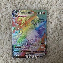 Charizard VMAX Full Art ALL 3 COMPLETE SET Shiny & Rainbow MINT
