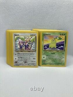 Complete Gem Mint Pokémon Neo Genesis Set Common/UC Cards WOTC Vintage Original