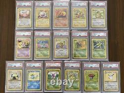 Complete Mint Set! Non-Holo Rares 1999 Pokemon 1st Edition Jungle PSA 9/10 Mint