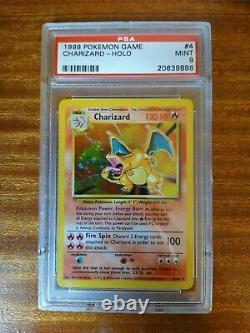 Complete PSA9 Mint Base Set Pokémon Holos All 16 Including Charizard Unlimited