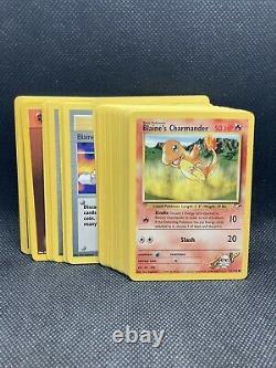 Complete Pokémon Gym Heroes Set 90 cards NM-Mint WOTC Vintage Original Com/UC