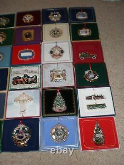Complete Set / Lot (43) White House Historical Association Ornaments 1981 2020