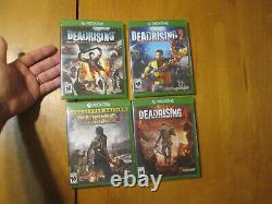 Dead Rising 1 + 2 + 3 Apocalypse Edition & 4 Xbox One Lot Set Complete New