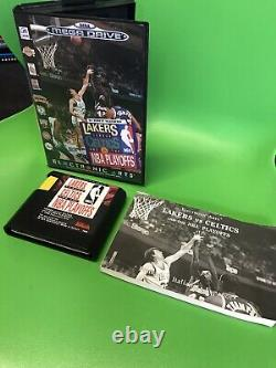 FULL SET mega Drive MINT & COMPLETE Lakers Vs Celtics MEGA MAN Games + Console