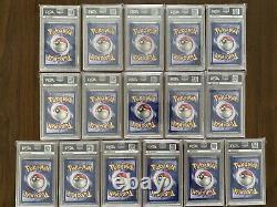 Fresh! Complete Set Non-Holo Rare 1999 Pokemon 1st Edition Jungle PSA 9/10 Mint