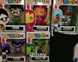 Funko POP! Teen Titans Lot Complete Set Rare Vaulted! Hot Topic Exclusive Raven