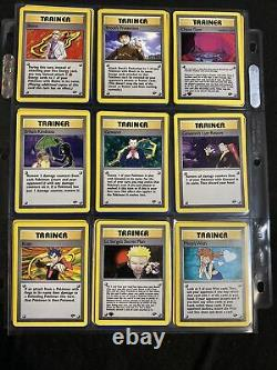 Gym Challenge Complete Set Common/Uncommon ONLY With RARE Trainers 37-126 MINT