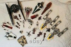Huge Lego Star Wars LOT (25+) Vintage Sets 98% complete Y-wing, A-Wing, etc