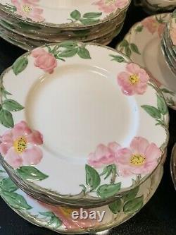 LOT Franciscan Desert Rose Dinnerware Complete Sets Excellent Condition 59 Piece