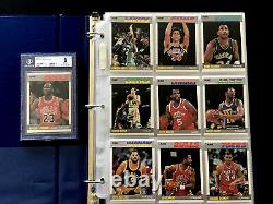 MICHAEL JORDAN 1987 FLEER #59 2ND YEAR NM-MINT BGS 8 COMPLETE SET With STICKERS
