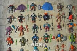 MOTU, He-Man figures lot vintage masters of the universe complete weapons set