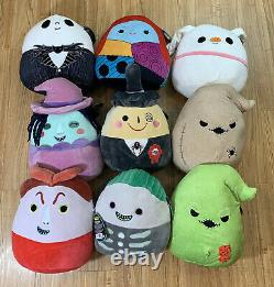 Nightmare Before Christmas Squishmallows Zero Jack Sally Complete Set Lot Of 9