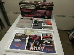 Nintendo Entertainment System Boxed, NES Action Set CIB Complete NEAR MINT Box