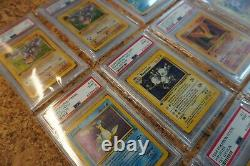 PSA 9/10 Pokemon Fossil 1st Edition Complete Set 62/62 + Pre Release Aerodactyl