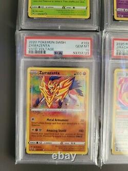 Pokemon Amazing Rare PSA 10 GEM MT FULL COMPLETE SET! VIVID VOLTAGE Lot of 6