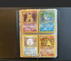 Pokemon Base Set 102/102 Complete Including Official Binder. Unplayed/Near Mint