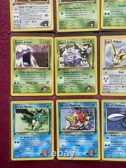 Pokemon COMPLETE Common Set MINT Gym Challenge 1ST EDITION 2000 RARE Vintage