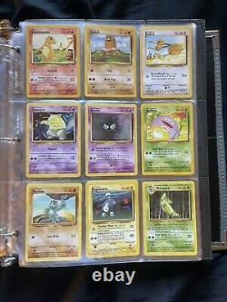 Pokemon Card Base Set Complete /102 Cards Mostly Near Mint Charizard WOTC 1999