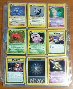 Pokemon Cards Complete Set Team Rocket USED 83/82 Collection NM MINT / Near Mint
