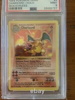Pokemon Complete PSA 9 Shadowless Base set 103/102 Mint Charizard Red Cheeks Pik