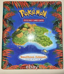 Pokemon Southern Island Set Complete 18/18 NM to MINT Conditions + Binder