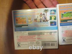 Pokemon Sun & Moon Nintendo 3DS LOT SET COMPLETE AUTHENTIC NEW Factory Sealed