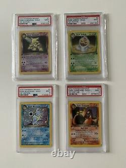 Pokemon Team Rocket First Edition Complete Set 83/82. Holos PSA 9 Or 10