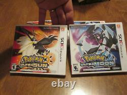 Pokemon Ultra Sun & Ultra Moon Nintendo 3DS LOT SET 2 GAMES COMPLETE DEAL COMBO
