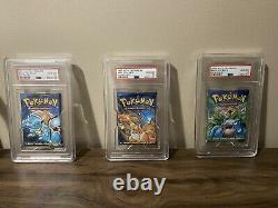 Pokemon WOTC Complete Art Base Set Booster Packs PSA 10 Gem Mint