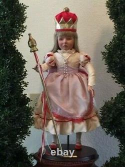 Porcelain doll COMPLETE SET ALICE IN WONDERLAND Faith Wick for SILVESTRI 30