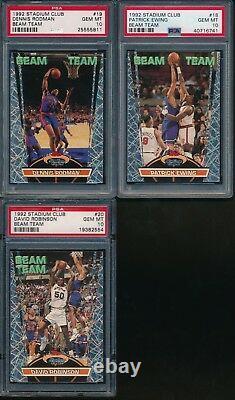 Psa 10 Gem Mint 1992-93 Topps Stadium Club Beam Team Complete Set Jordan Shaq