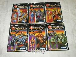 Super7 ReAction Figures Thundercats Complete Lot Set of 6 Action Figure