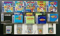 Super Mario Land Wario 1 2 3 IINintendo GAMEBOY CIB Complete EXCELLENT SET LOT