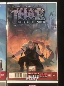 THOR GOD OF THUNDER 1-25 (Marvel / 2012) COMPLETE Lot Run Set 1 2 3 4 5 6 19 25