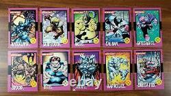 Toy Biz Promo Card COMPLETE SET 1992 X-Men Series 1 Impel Variant Lot