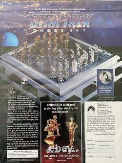 Vintage 1989 Paramount Official Franklin Mint STAR TREK Chess Set Complete / LOT