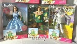 Wizard Of Oz Barbie Ken Doll 1999 Complete Set MIB Dorothy Glinda Munchkins Lion
