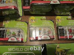 World Of Nintendo Zelda Micro Land 8 Set Series Complete Deluxe Pack Link Lot